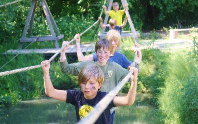 Actief kinderfeestje bij Outdoorpark SEC Survivals