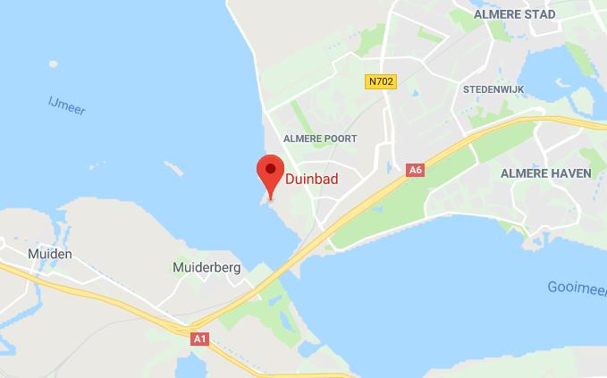 Locatie-Duinbad-Almere-Google-Maps
