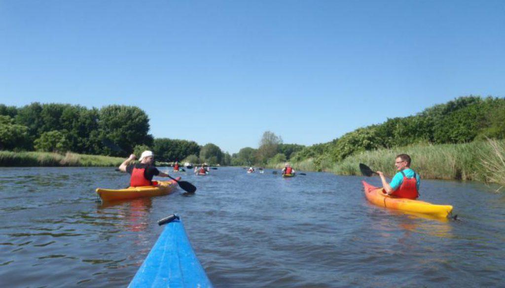 kano's varen door natuur van Flevoland