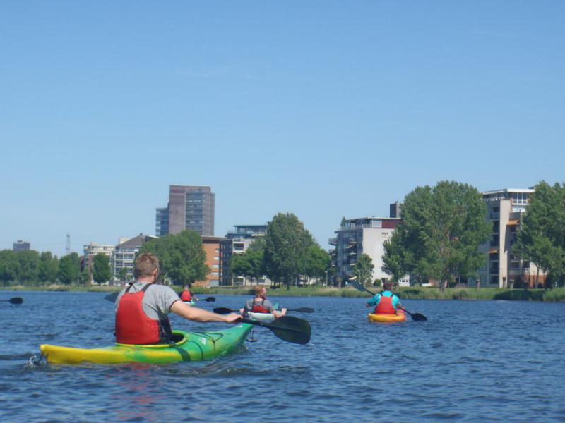 kano varen rond Almere Flevoland