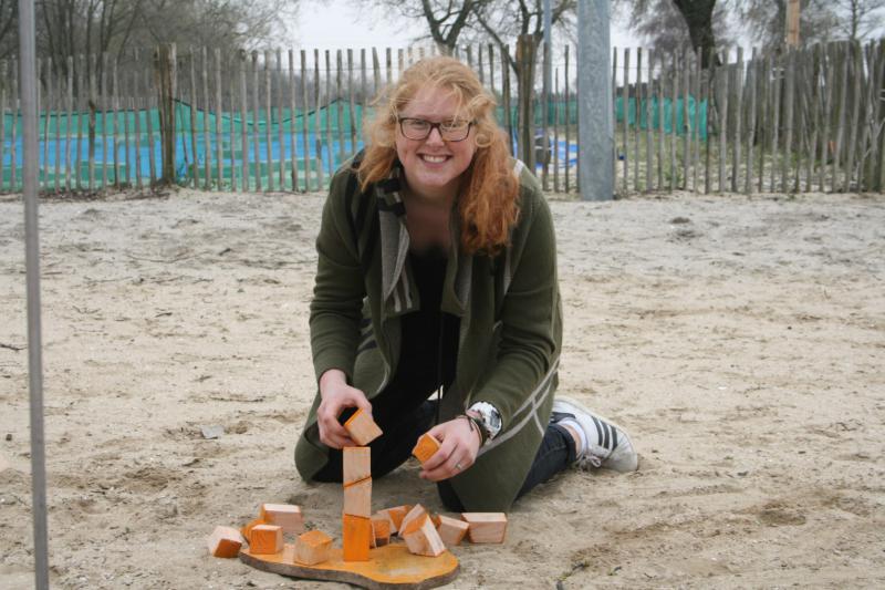 moederdag, spellen op het strand van Almere