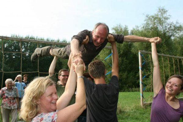 Gezin actief tijdens familie uitje in Almere