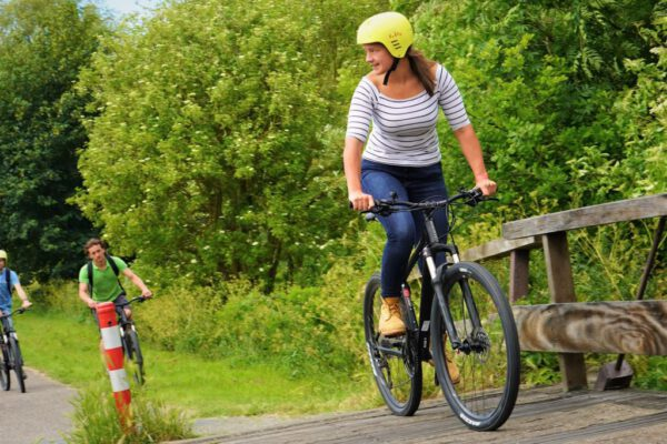 mountainbike tijdens sportdag