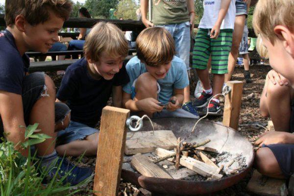 Vuurproef tijdens Expeditie Robinson Kinderfeestje Almere