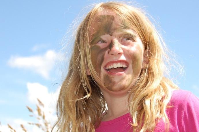 Survival kinderfeestje blond meisje