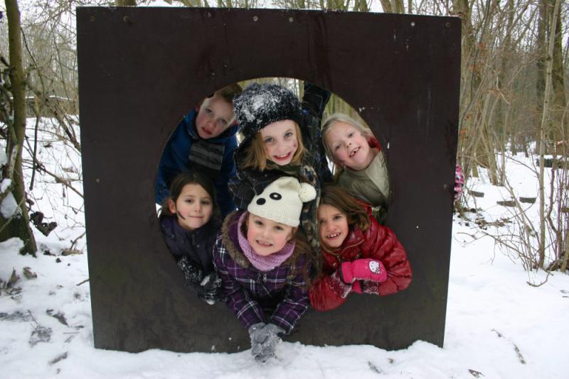 Winter kinderfeestje groep