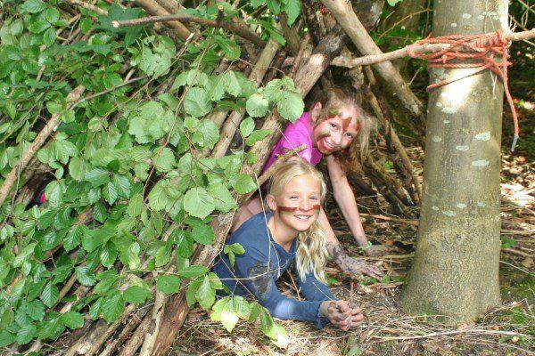 bushcraft-kinderfeestje-schuilplaats