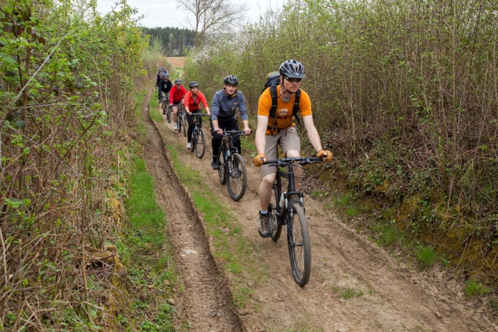 mountainbike parcours in de natuur van Almere