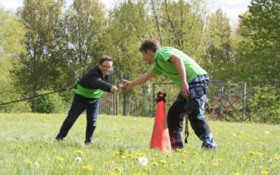 bungee-run lopen met elastiek