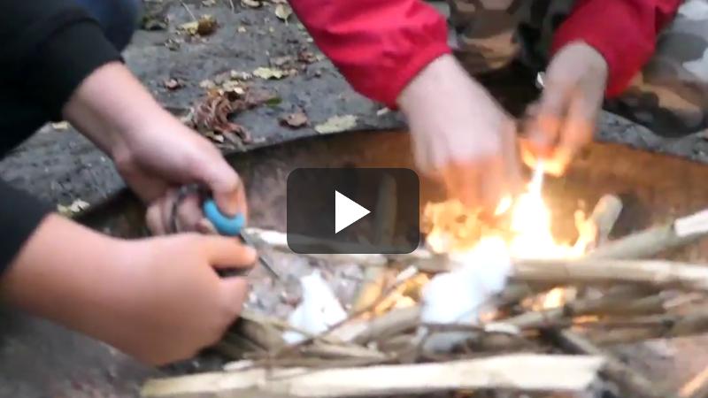 Bushcraft-kinderfeestje-video
